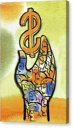 Shareholder Canvas Print by Leon Zernitsky