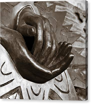 Sharing Canvas Print - Sharing Hands by Marilyn Hunt