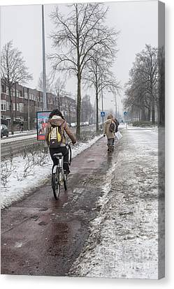 Sharing Canvas Print - Sharing The Road by Patricia Hofmeester