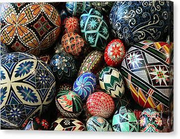 Shari's Ukrainian Eggs Canvas Print by E B Schmidt