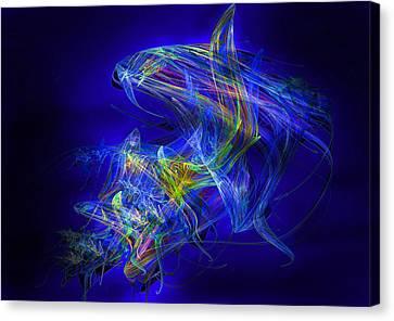 Shark Beauty Canvas Print by Michael Durst