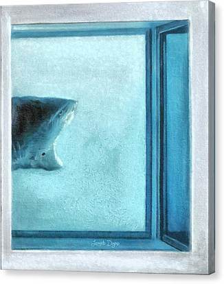 Shark In Magic Cubes - 3 Of 3 Canvas Print