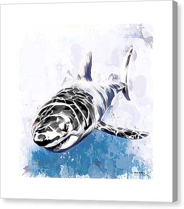 Shark Painting  Canvas Print by Scott Wallace
