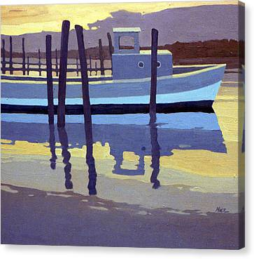 Shark River Lobster Boat Canvas Print by Donald Maier
