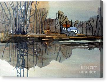 Shark River Reflections Canvas Print by Donald Maier