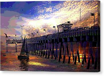 Shark Tooth Capital Of The World Canvas Print by Charles Shoup