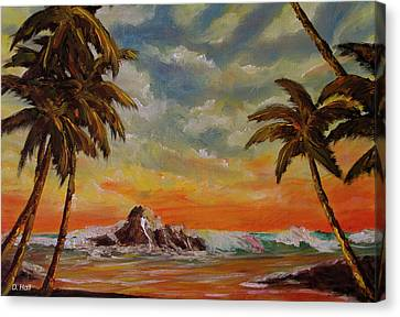 Sharks Cove North Shore Oahu #394 Canvas Print by Donald k Hall