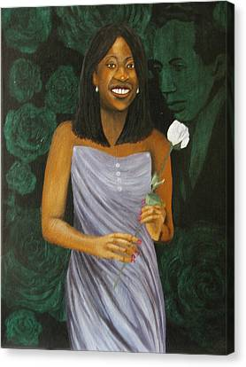 Sharon's Rose With Langston Canvas Print