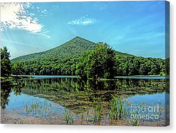 Canvas Print featuring the photograph Sharp Top Mountain At Abbott Lake - Peaks Of Otter by Kerri Farley