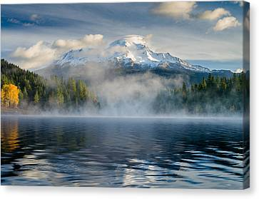 Shasta Mists And Morning 1 Canvas Print by Greg Nyquist