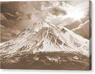 Canvas Print featuring the photograph Shasta Mt by Athala Carole Bruckner