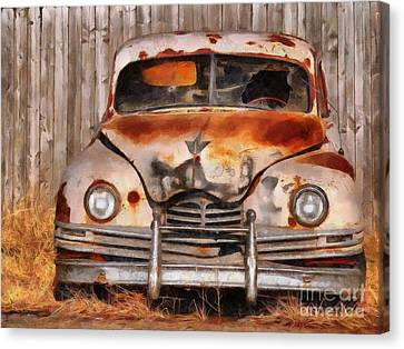 Shattered And Layed To Rest Canvas Print by L Wright