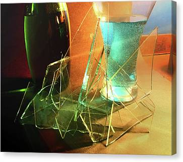 Shattered Canvas Print by Barbara  White