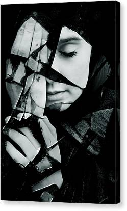 Sadness Canvas Print - Shattered by Cambion Art