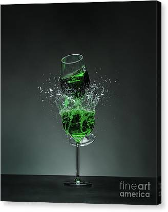 Shattered Glass - Dollar Green Canvas Print