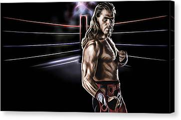 Shawn Michaels Wrestling Collection Canvas Print by Marvin Blaine