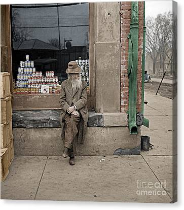 Shawneetown Colourised Canvas Print by Russ Brown