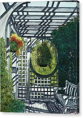 Canvas Print featuring the painting Shaw's Garden Place Of Solitude by Michael Frank