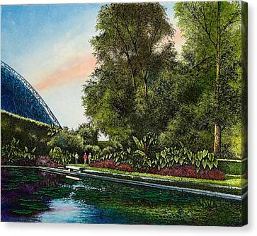 Canvas Print featuring the painting Shaw's Gardens Climatron by Michael Frank