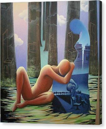 She And I Canvas Print by Raju Bose