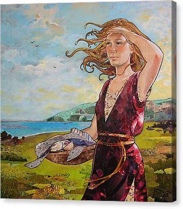 She Baked The Loaves And Dried The Fishes Canvas Print by Robin Birrell