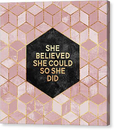 She Believed She Could Canvas Print by Elisabeth Fredriksson