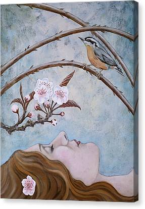 She Dreams The Spring Canvas Print