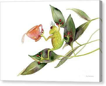 She Frog Canvas Print by Amy Kirkpatrick