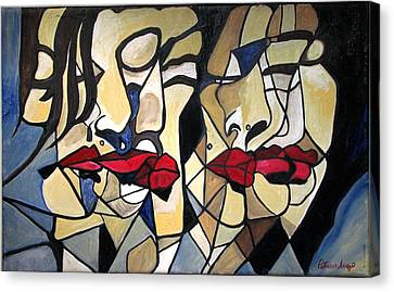 She Had Red Lips Canvas Print by Patricia Arroyo
