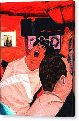East Village Canvas Print - She Hits The High Notes by Elizabeth Hoskinson