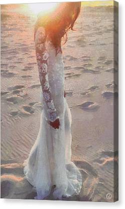 Woman Canvas Print - She Just Went Away by Gun Legler
