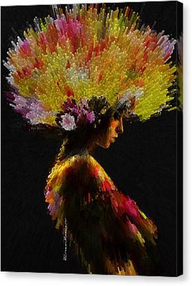 Kiran Kumar Canvas Print - She by Kiran Kumar