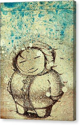 She Liked The Cold Canvas Print by Konrad Geel