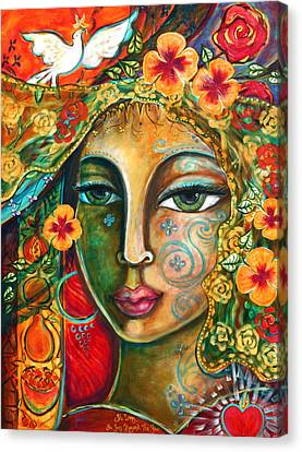 Sacred Canvas Print - She Loves by Shiloh Sophia McCloud