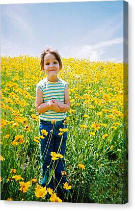 She Loves Yellow Canvas Print