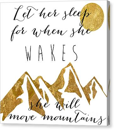 She Moves Mountains Canvas Print by Mindy Sommers