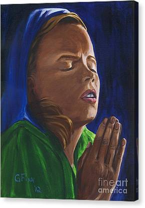 She Prays Canvas Print