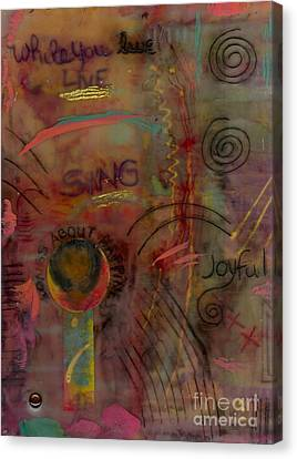 She Sings Songs Canvas Print by Angela L Walker