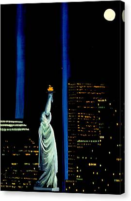 She Stands With Freedom Canvas Print by Thom Murphy