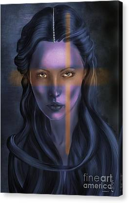 Disobedient Canvas Print - She... The Eyes. by Gabriela Tasiro
