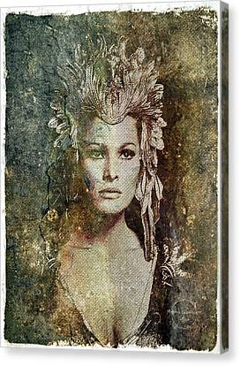 1960 Movies Canvas Print - Ursula Andress - She by Absinthe Art By Michelle LeAnn Scott