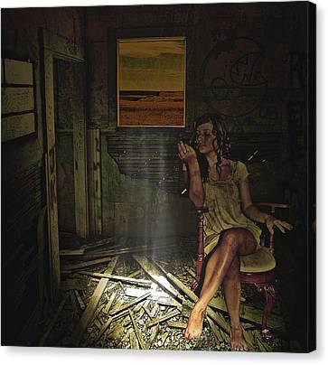 She Waits For Him To Return Canvas Print
