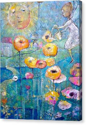 Canvas Print featuring the painting She Who Waters by Eleatta Diver