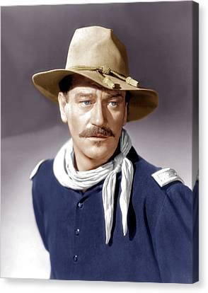 She Wore A Yellow Ribbon, John Wayne Canvas Print by Everett