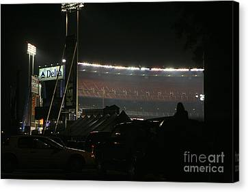 Shea Stadium Canvas Print by Chuck Kuhn