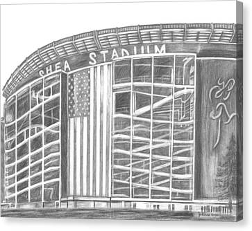 New York Mets Stadium Canvas Print - Shea Stadium by Juliana Dube