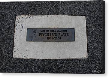 Shea Stadium Pitchers Mound Canvas Print by Rob Hans