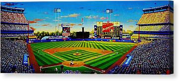 Shea Stadium Canvas Print by T Kolendera