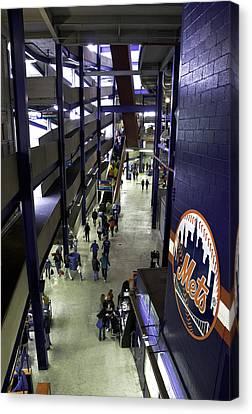 Shea Stadium Walkways Canvas Print by Paul Plaine