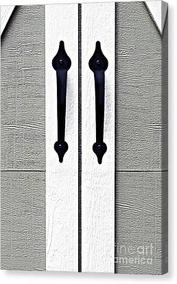 Shed Door Handles Canvas Print by Ethna Gillespie